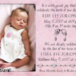 Loss of a Twin: Birth Announcements