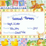 Going Longer : Birth Announcements